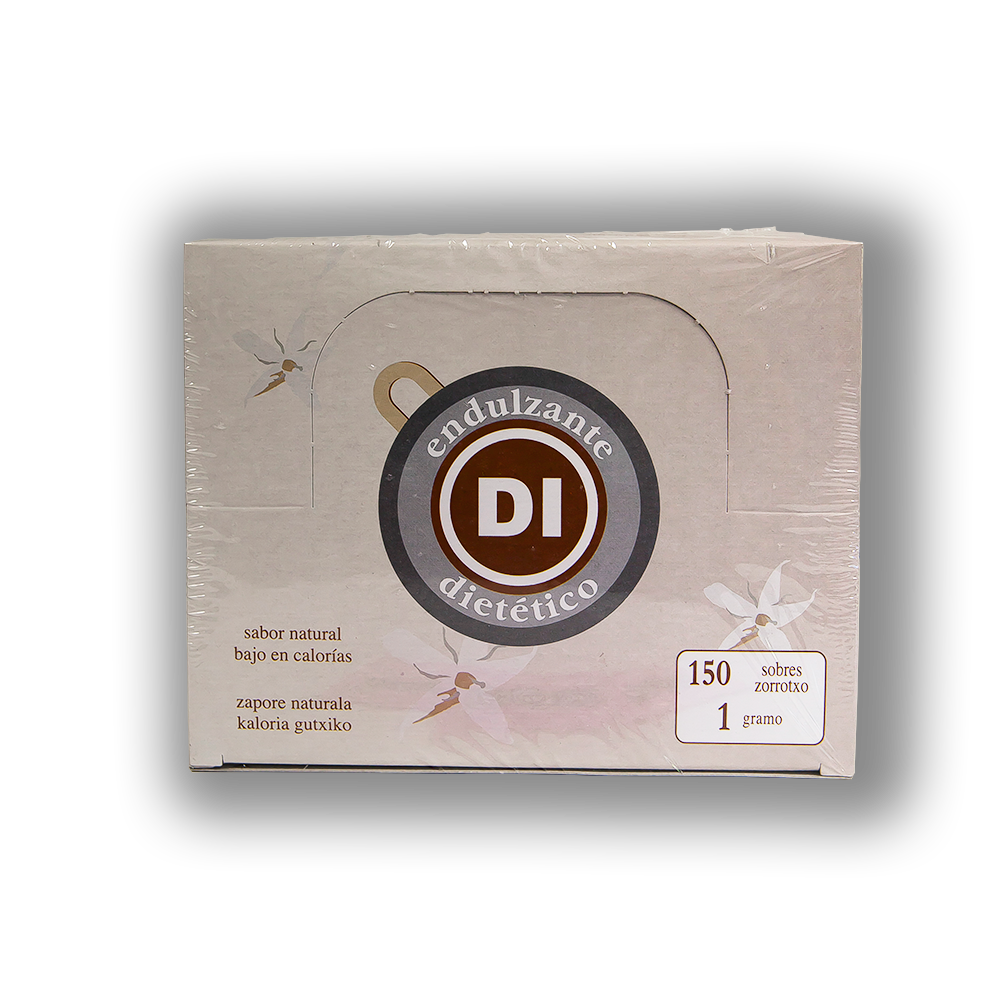 Ditare sweetener in 1gr servings. Box contains 150 units.