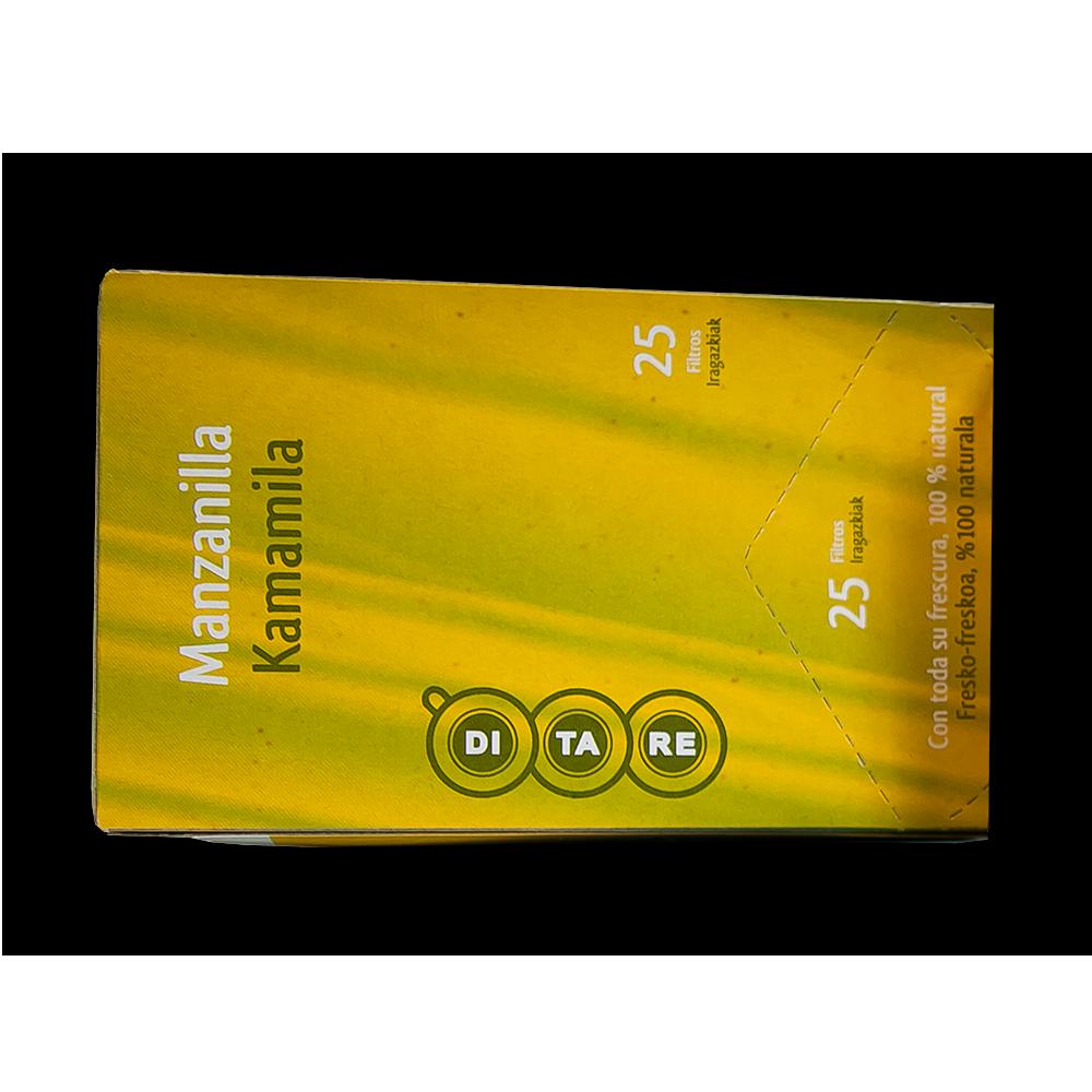 Manzanilla Línea Ditare infusiones envasadas individualmente en caja de 25 unidades