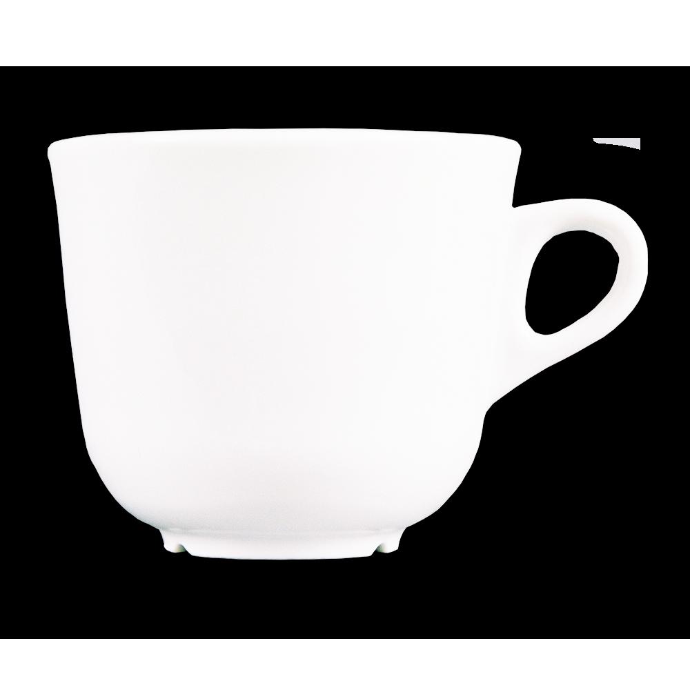 Taza cónica café solo 120ml + plato, 6 unidades